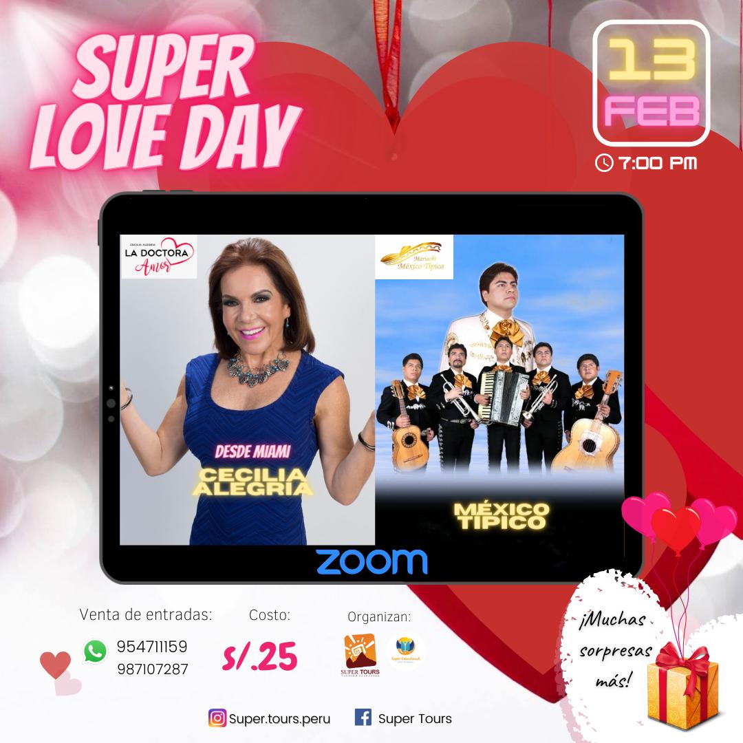 Cecilia Alegría («La Dra. Amor») y Mariachi México Típico en Super Love Day